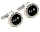 Wedding Date Cufflinks - Custom Wedding Fashion Accessories - With Gift Box
