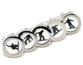 Snowboarding Cufflinks - Sports Fashion Accessories - With Gift Box - Choose Your Design