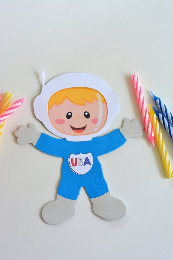 Astronaut boy craft kit for kids birthday party favor for Boys arts and crafts