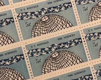 Set of 10 The Sciences stamps to add to your cards or letters from 1963