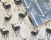 Arrows and Deer Cot Blanket Comforter - Boutique Crib Bedding