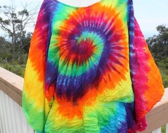 Tie dye poncho top plus size XXL