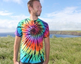 Tie dye Color Interrupted Tee Sizes Small through 5XL