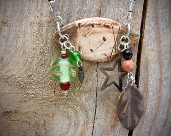 Handmade ceramic pendant necklace with suede lace - CN616-2
