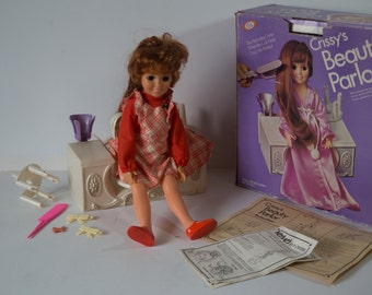Vintage Ideal Crissy Doll and Crissy's Beauty Parlor with Original Box