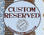 Custom Listing for DiRubbio Wedding