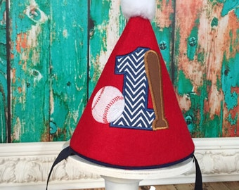 Baseball Birthday Hat - Party Hat - Birthday Hat