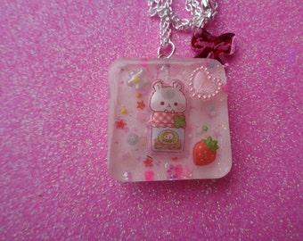 Super Cute Kawaii Hamster Necklace Free Hamu Hamu Stickers