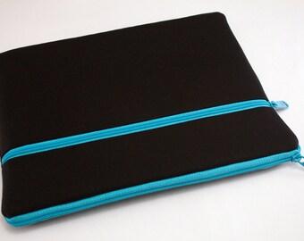 Macbook Air Case, Chromebook Cover, Hp laptop Case, Sleeve, Laptop bag for women, macbook Pro 13 Retina case, iPad Pro-Midnight Blue Teal