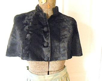 Vintage faux fur midriff Caplet