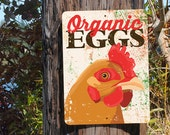 "Organic Eggs Sign 9"" X 12"" Seaport Collection. SKU: SN912636"