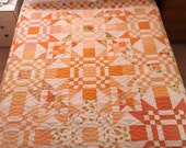 Starry Orange Letter Day Quilt