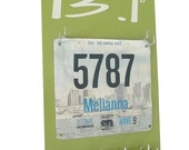 Half marathon gift -  race bibs display -  Half Marathon Medals display rack