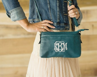 Sydney Crossbody Purse in Sea Green