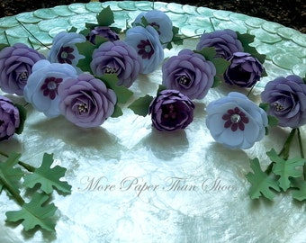 Cake Flowers - Paper Flowers - Cake Decoration - Made To Order - Custom Colors Available