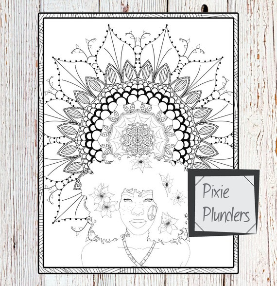 Summer Mandala Colouring Page - INSTANT DOWNLOAD