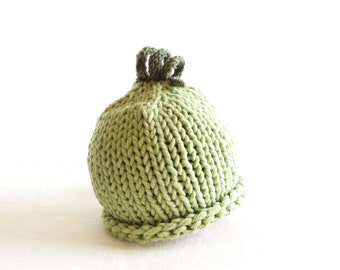 Sweet Pea Hat - 0 to 12 months - Soft Hand Knit - Made to Order
