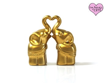 Miniature Elephant Figurine Set - Indian Wedding Favors - Bridal Party Gifts