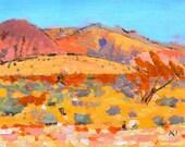 Red Rocks Original Oil Landscape Painting, Las Vegas