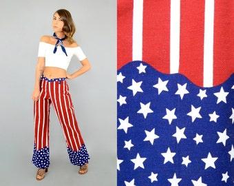 OOAK 70's American Flag Trousers