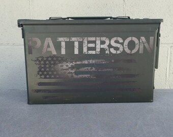 Engraved 50 Cal Ammo Box shooting Gift Father Groom Groomsmen dad husband ammunition usher brother military Ammunition Survival Valentines