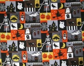 Haunted Halloween Surgical Scrub Top / X Small - XX Large