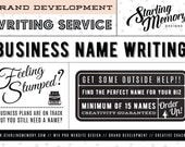 BUSINESS NAMING  Service - Business Name Service - Business Branding - Creative Coaching - Business Name Brainstorming - Writing Service