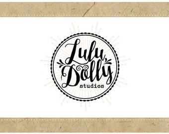 Custom Logo Design - PreDesigned Logo - PreMade Logo - Vector Logo - OOAK Logo -  LULU DOLLY Logo Design - Circle Logo - Vintage Logo