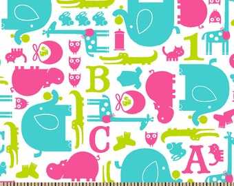 Jungle - Pink - Flannel - fabric BTY