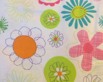 Flowers - Cotton Flannel Fabric - BTY