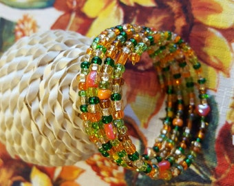 Green, Yellow, Orange, and More Wrap Bracelet