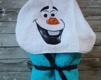 Custom Olaf Hooded Towel