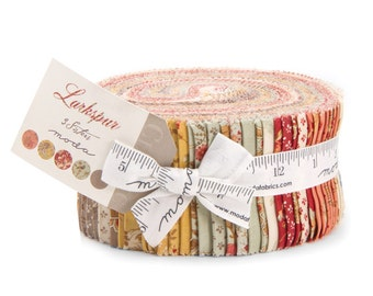 Moda Larkspur Jelly Roll by 3 Sisters 2.5 inch Fabric Strips- Quilt Fabric