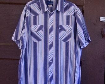HALF OFF Vintage Western Wrangler Pearl Snap Shirt L/XLTall (i)