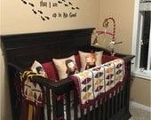 LIMITED Harry Potter Baby, Argyle Crib Bedding, Bumperless Crib Bedding, Crimson and Gold crib bedding