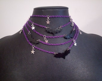 Batty in the night necklace