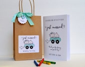 Personalized Kids wedding activity bag / Children wedding favor bag / kids activity book with crayons
