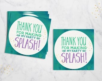 Mermaid Favor Tags, Mermaid Party Tags, Mermaid Gift Tags, Mermaid Birthday Party