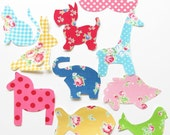 10 Iron or Sew On Girls Shabby Appliques