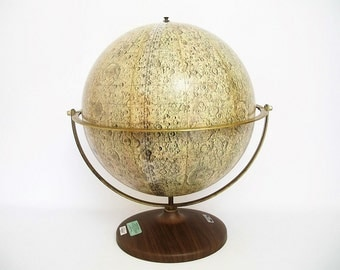 SALE - Iconic 1969 Denoyer-Geppert Lunar Globe - Very Early Model - FREE Ship Lower 48