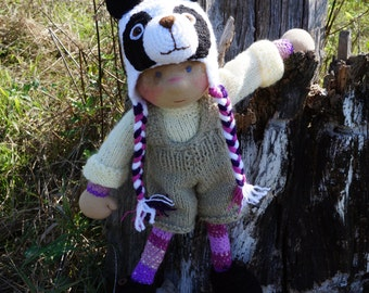"""SALE Waldorf knitted doll Petko 14"""""""