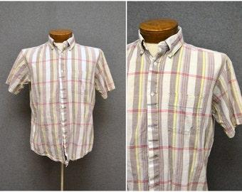 1980s J.M. Hollander Madras Shirt