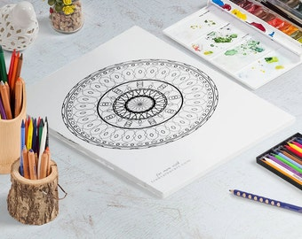 Mandala Coloring Pages - Pack Of Ten - Downloadable Coloring Pages - Adult Coloring Pages