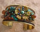 Flower Cuff Bracelet KIT NATURAL
