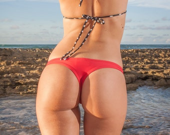 INDIE ATTIRE - Thong Bikini Bottom - Red