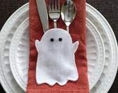 Mini Flatware Holder Halloween Ghosts - Set of 6