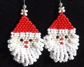 Santa Claus Earrings - Christmas Earrings - Holiday Earrings - Santa Earrings