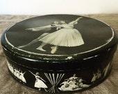 "Reserved for Vanessa. Rare vintage "" Carrs Of Carlisle Ltd England"" biscuit / cake tin depicting the ballet Les Sylphides. My Vintage home."