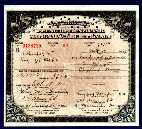 1927 Sarah O'Connell Prohibition Irish Whiskey