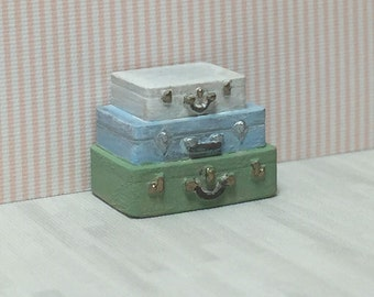 Quarter Scale Stacked Suitcases Table Kit